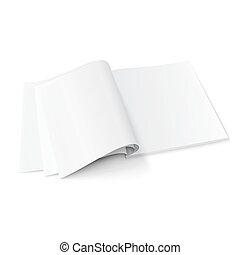 Blank magazine template with soft shadows - Blank opened...