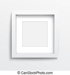 white square frame on
