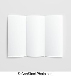 Blank trifold paper brochure. - White stationery: blank...