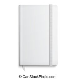 Blank copybook template with elastic band - Blank copybook...