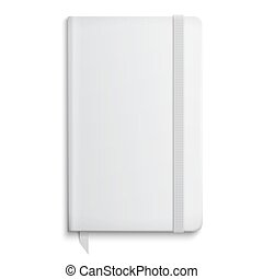 Blank copybook template with elastic band. - Blank copybook...