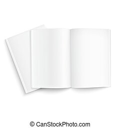Couple of blank magazines template on white background with...