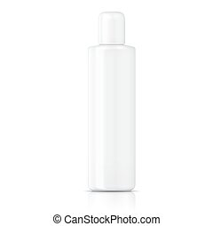 White tubular bottle template. - White tubular bottle...