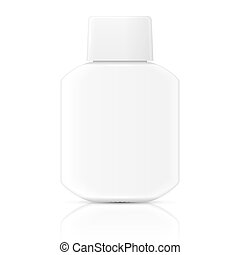White lotion bottle template. - White glass bottle template...