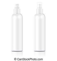White sprayer bottle template. - White plastic bottle (cosmo...