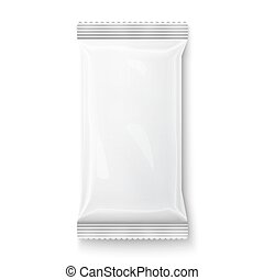 White wet wipes package. - White wet wipes package isolated...