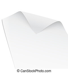 Paper with twisted corner. - Paper with twisted corner,...
