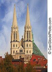 Temple in Goerlitz - St. Peter and Paul church in Goerlitz...