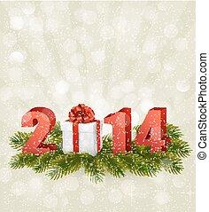 Feliz, Novo, ano, 2014!, Novo, ano, desenho, modelo,...