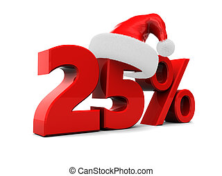 twenty five percent discount - twenty five percent christmas...
