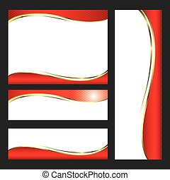 Template red card element design