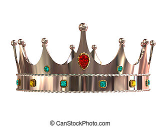 Silver crown isolated on white background