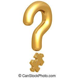 Question Mark Puzzle Piece