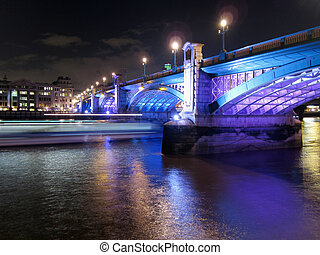 southwark bridge in London, England - the london bridge at...