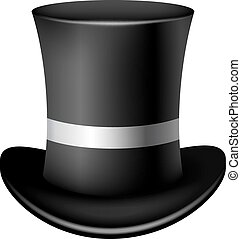 Classic cylinder hat on a white background