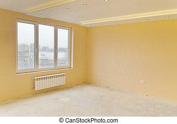 Room with modern LED lighting - Look of renovating freshly...