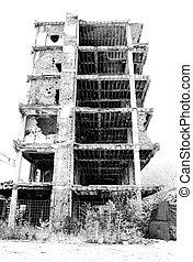 byggnad, övergiven