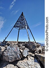 Top of Mount Toubkla (4,167 metres), Atlas Mountain, Morocco...