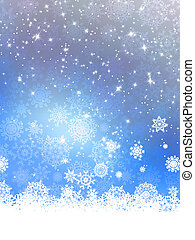 Christmas background with snowflakes. EPS 10 vector file...