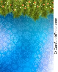 Christmas background with tree. - Christmas background with...