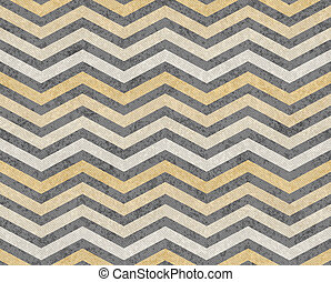 Yellow and Gray Zigzag Textured Fabric Background that is...