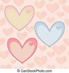 Seamless Valentine's Day pattern with hearts with attached...