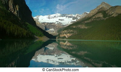 Lake Louise - Reflection on Lake Louise, Banff National...