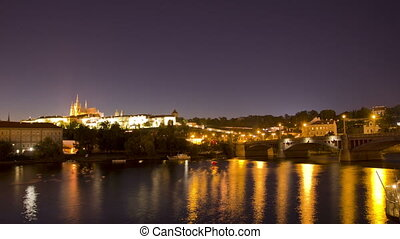 Prague, Czech Republic. Night. Time Lapse.