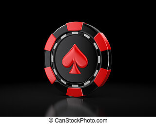 casino chip. Image with clipping path