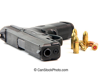 bullets and gun