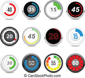 timers set - Twelve different timers. Each timer has twelve...