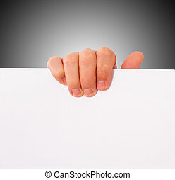 hand, paper, advertising
