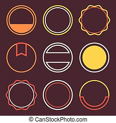 Vector Badges Stamps Templates