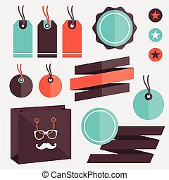 Vector Badges Stickers Labels and R