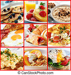 Breakfast Collage - Collage of breakfast images. Includes...
