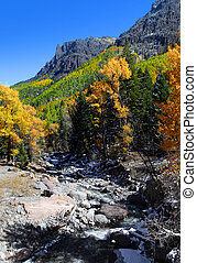 Small creek in Rocky mountains - Small creek near Ourey...