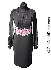 Ukrainian black dress - national black dress of Ukrainian...