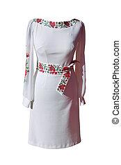 Ukrainian dress on white background