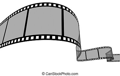Film Strip - 3d Film Strip. White background. Digitally...
