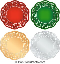Lace Doily Place Mats, Christmas