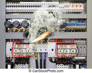 Electric Shock - Overloaded electrical circuit causing...