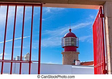 Lighthouse of Cabo Sao Vicente, Sagres, Portugal - Farol do...