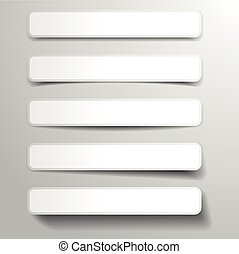 banners with shadows - illustration of abstract banners with...