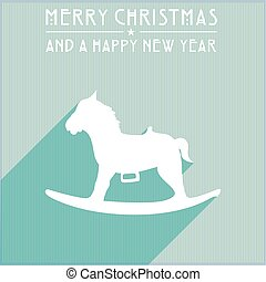 christmas rocking horse - detailed illustration of a...