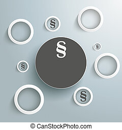 White Rings Paragraphs PiAd - Infographic with white rings...