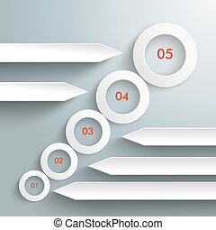 Circles Growth 5 Options Infographic PiAd - Infographic with...