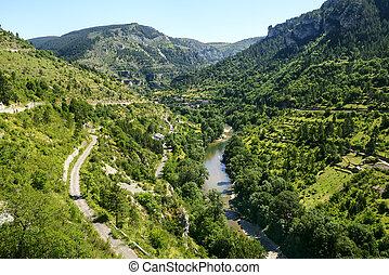 Sainte-Enimie, Gorges du Tarn - Sainte-Enimie, historic town...