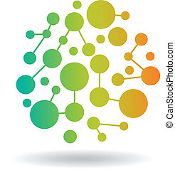 Colorful Circles Network Vector