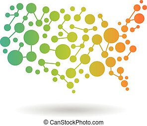 USA Map networking Logo