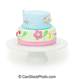 Beautiful garden themed birthday cake - A beautiful gadren...
